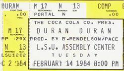 Duran duran ticket 14 february 1984.png