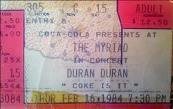 The myriad duran duran ticket 1984.png