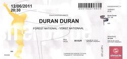 Duran duran ticket belgium forest national vorst nationall.png