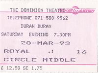 Dominion Theatre ticket duran duran wikipedia.png