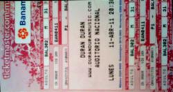 3 ticket duran duran National Auditorium, Mexico City, Mexico.png