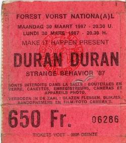 1 ticket 1987 duran duran Forest National, Brussels, Belgium 30 march 1987 concert.png
