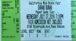 California Mid State Fair Grandstand Arena Paso Robles Event Center Paso Robles CA USA ticket duran .jpg