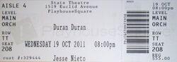 Ticket duran duran State Theater, Cleveland, OH, USA..jpg