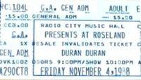DURAN DURAN TICKET Roseland Ballroom, New York, NY, USA.jpg