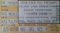 Lakeland FL USA Lakeland Civic Center wikipedia duran duran band concert ticket stub.jpg