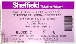 Ticket duran duran sheffield 4 june 2011 a.png