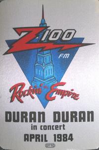 Z100 WHTZ FM Radio cloth sticker duran duran wikipedia.png