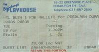 Ticket Duran Duran ticket stub x 2 from Edinburgh 28 & 29 April 1987 wikipedia.png