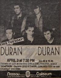 Uniondale NY USA Nassau Coliseum duran duran advert wikipedia 1984 a.png