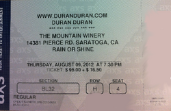 Duran Duran Tickets August 9 Mountain Winery Saratoga CA wikipedia.png