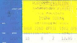 Duran Duran ticket Hordern Pavilion, Sydney, Australia.jpg