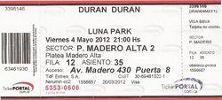 Luna Park, Buenos Aires (Argentina) - 4 May 2012 ticket wikipedia duran duran show review.jpg