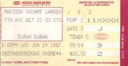 DURAN DURAN CONCERT TICKET MADISON SQUARE GARDEN 1987 2.jpg