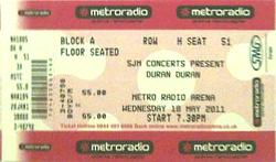 Ticket newcastle duran duran 2011.png