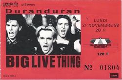 DURAN DURAN a ticket stub - Paris Bercy 1988.png