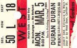 Duran Duran - 03-05-84 ticket Maple Leaf Gardens, Toronto, Ontario, Canada.jpg