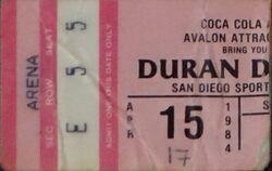 Coliseum, Oakland, CA, USA wikipedia ticket stub show duran duran 1984 15 april.jpg