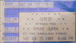 TICKET The Great Western Forum, Inglewood, Los Angeles, CA (USA) WIKIPEDIA DURAN DURAN.png