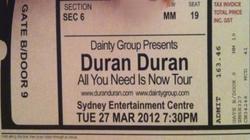 Ticket sidney australia 2012 duran duran.png
