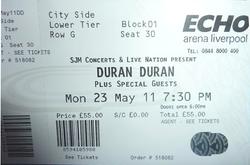 Buy tickets duran duran liverpool echo arena 23 may 2011.png