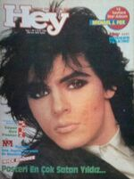 Nick Rhodes Duran Duran Madonna A-ha Nik Kershaw Cure Michael J. Fox Sade jan 1986 hey magazine turkey wikipedia.JPG