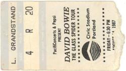 David bowie ticket portland 14 august 1987 A duran duran.png