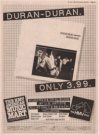 Duran duran discography discogs debut album.png