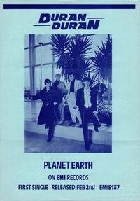 Planet earth song wikipedia flyer duran duran 1981.jpg