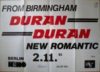 Berlin (Germany), Kant-Kino wikipedia poster duran duran 2 11 1981 first german tour.JPG