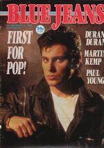 Blue Jeans Magazine 16 March 1985 No. 426 Duran Duran Martin Kemp.JPG
