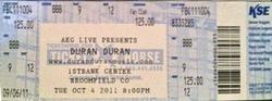Ticket denver concert duran duran 2011.png