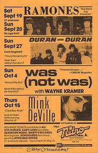Nitro, 14060 Telegraph Road off jeffries freeway, Redford, MI, usa duran duran 27 september 1981 wikipedia show venue.jpg