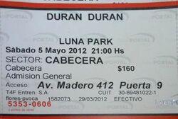 Ticket luna 5 may Luna Park, Buenos Aires (Argentina wikipedia duran duran.jpg