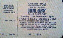 Q Queens Hall Leeds 11 december 1983 duran duran ticket stub collection wikipedia.JPG