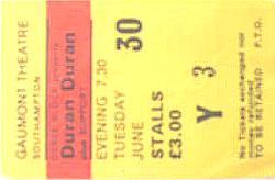 Ticket duran gaunmont southhampton 30 june 8182.png