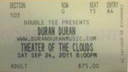 Ticket Theater of the Clouds duran duran.jpg