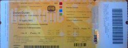 Ticket 14 july Rome (Italy), Foro Italico wikipedia duran duran show review.jpg
