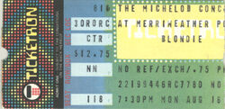 Washington DC (USA), Merriweather Post Pavillion blondie ticket stub wikipedia duran duran.jpg
