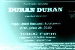 Ticket Budapest (Hungary), Papp László Budapest Sport Arena duran duran wikipedia.jpg