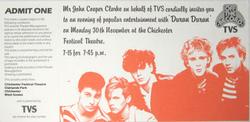 Ticket RARE Chichester Festival Theatre, Chichester (UK) duran duran wikipedia.png
