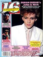 16 magazine music wikipedia Sept 1984 DURAN DURAN Menudo MICHAEL JACKSON Harrison Ford.JPG