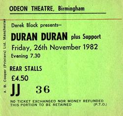 Ticket 26 nov 1982 duran duran.png