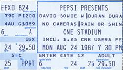 Ticket ticketmaster website david bowie duran duran Molson CNE Stadium, Toronto, ON (Canada) - 24 August 1987 discogs wiki look at stubs.png