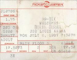 Duran duran music com wikipedia Detroit MI USA Joe Louis Arena ticket stub.jpg