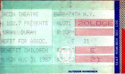 DURAN DURAN TICKET NEW YORK BEACON THEATRE 1987.jpg