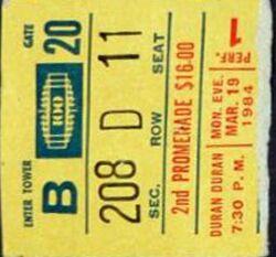 Ticket 19 march 1984 duran duran new york.jpg