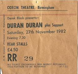 Birmingham odeon wikipedia ticket stub duran duran new street B1 THEATRE.png