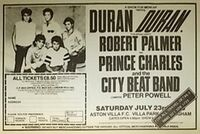 Duran Duran-1983 magazine advert mencap concert aston villa charity concert aston villa park birmingham wikipedia robert palmer prince charles and the city beat band peter powell dj.JPG