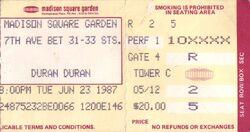 Duran duran concert ticket madison square garden 1987.jpg